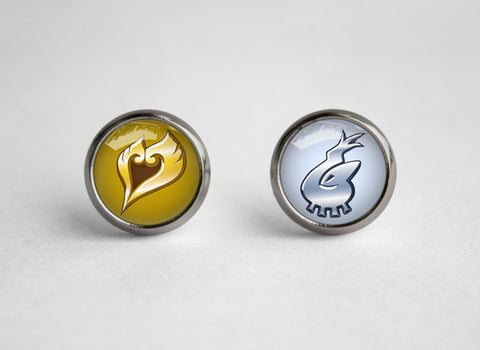 Gold and Silver legendaries earrings