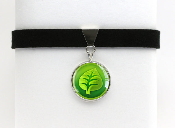 Grass Type Symbol Pokemon Choker Necklaces