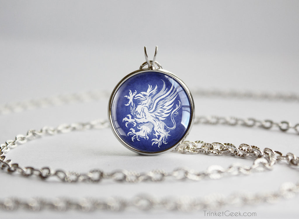 Dragon age Grey Warden Sigil Griffon Pendant Necklace Silver