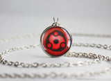 Naruto pendant Madara Uchiha Sharingan necklace