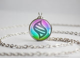Pkmn Mega Key Stone Pendant Necklace
