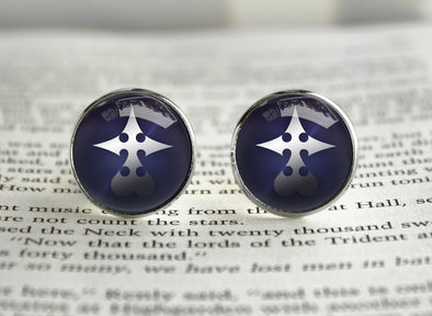 Kingdom Hearts KH Nobody Symbol Cufflinks