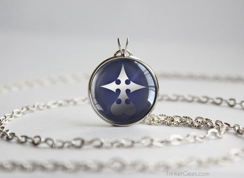Kingdom Hearts KH Nobody Symbol Pendant Necklace