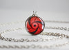 Naruto pendant Rai Uchiha Sharingan necklace
