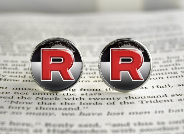 Pkmn Cufflinks Team Rocket symbol