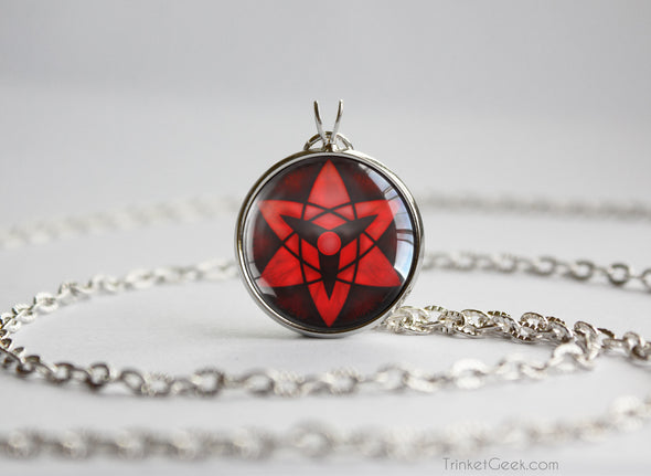 Naruto pendant Sasuke Uchiha Eternal Sharingan necklace