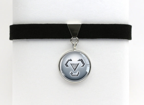 Steel Type Symbol Pokemon Choker Necklaces