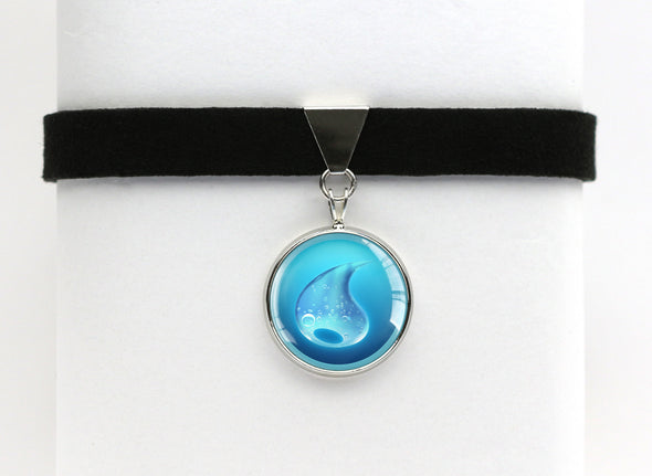 Water Type Symbol Pokemon Choker Necklaces