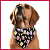 Box Print Pet Bandana
