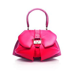 Modern Extravaganza Handbag in Rose & Terracotta Red by Anya Sushko
