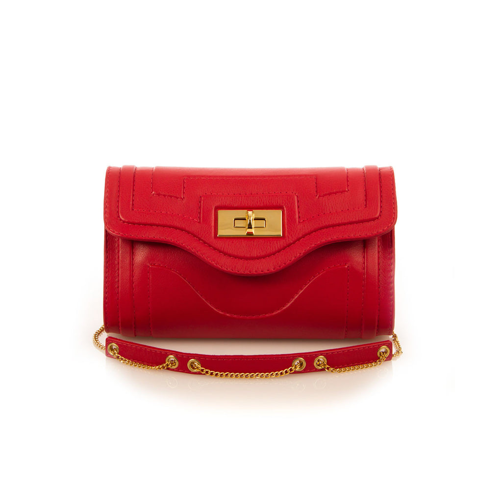 Luxury Severina Handbag in Rose Red