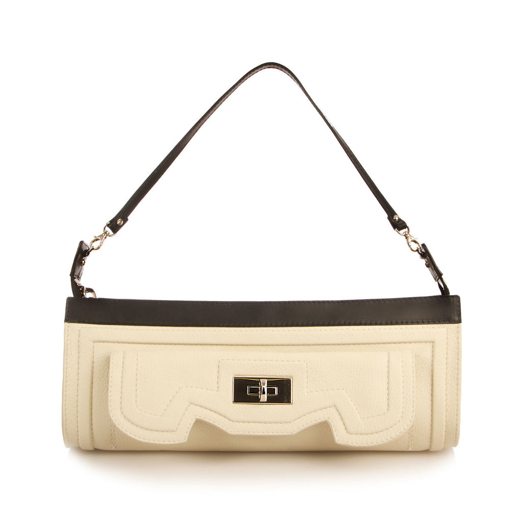 Luxury Uma Bag in Ivory and Black