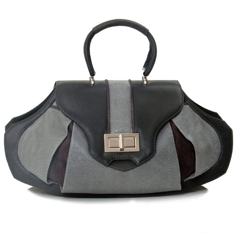 Art Deco Inspired Unique Handmade Bag Grande Sunburst in grey