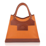 Leather Orange Bag and Tan back view