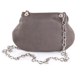Leather Cross Body Heart Purse in Dark Taupe back view