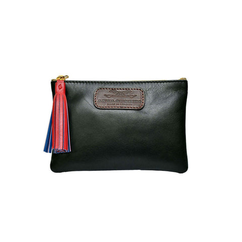 Black Leather Mini Purse