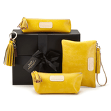 Handmade Leather Accessories in Canary Yellow