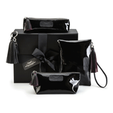 Leather Accessories in Patent Black