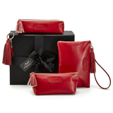 Leather Accessories in Scarlet Red