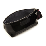 Cosmetic Case in Patent Black lining detail