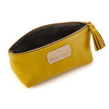 Cosmetic Case in Canary Yellow  inside