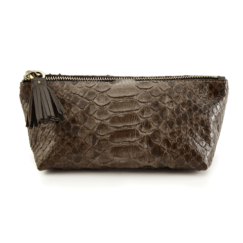 Cosmetic Case in Brown Exotic Skin