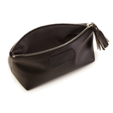 Cosmetic Case in Metallic Brown lining details