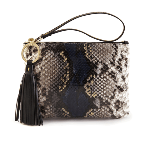 Luxury Wristlet in Camelot Python Skin