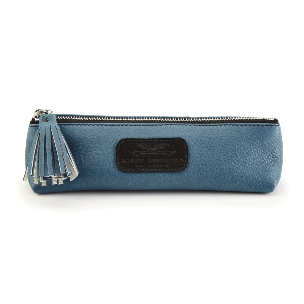 Handmade Pencil Bag in Blue