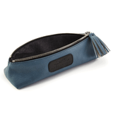 Handmade Pencil Bag in Blue lining detail