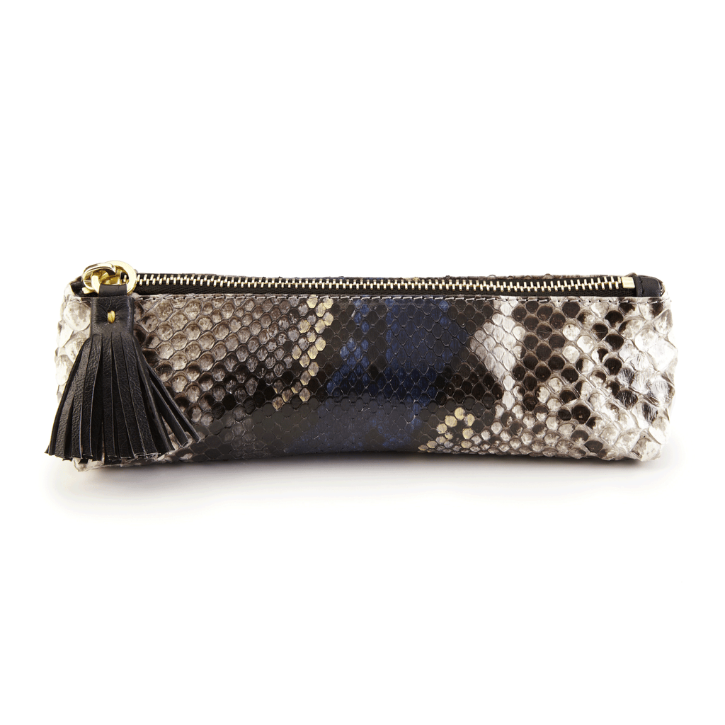 Luxury Leather Pencil Case in Exotic Skin