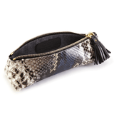 Luxury Leather Pencil Case in Exotic Skin with lining detail
