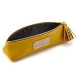 Handmade Pencil Bag in Canary Yellow lining detail