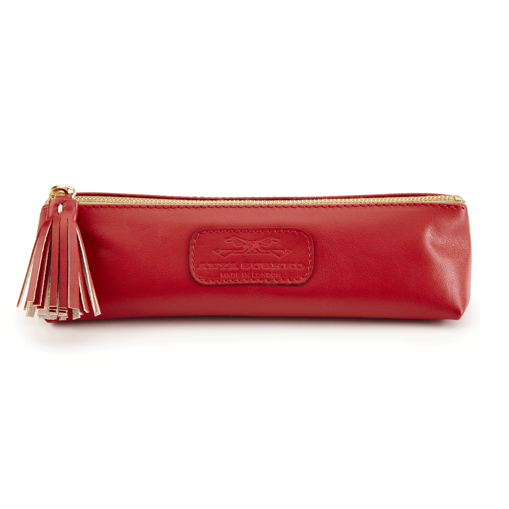 Handmade Pencil Bag in Scarlet Red