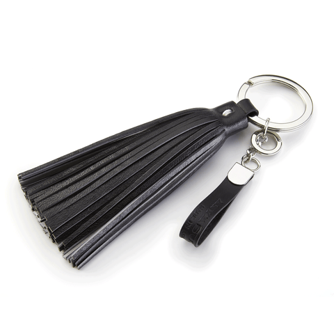 Handmade Leather Tassel in Black