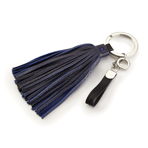 Handmade Leather Tassel in Blue