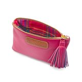 Passion Pink Mini Purse with check lining