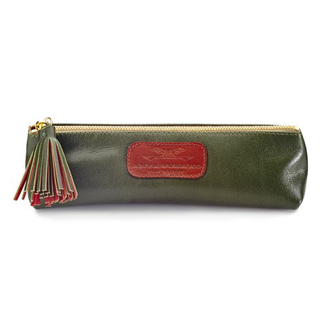 Handmade Pencil Bag in Olive Green