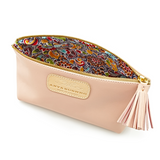 Cosmetic Case in Powder Pink with floral lining detail