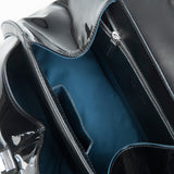 Art Deco Inspired Modern Extravaganza bag in black patent inside detail