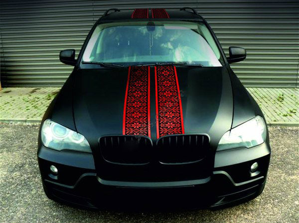 Red embroidery for cars