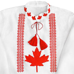 Embroidered men's Canadiana