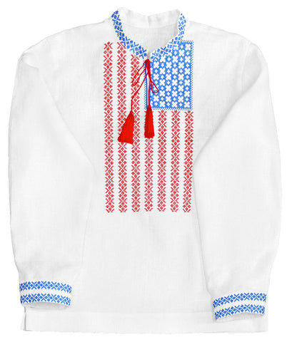 Embroidered men's Americana