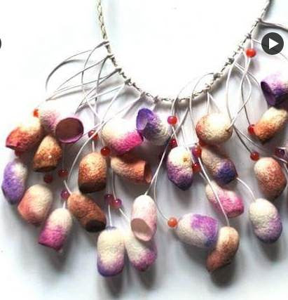 Silkworm cocoon Necklace - PBW