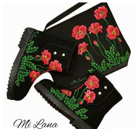 Poppy Boots and purse
