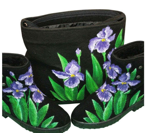 Orchid Boots and purse