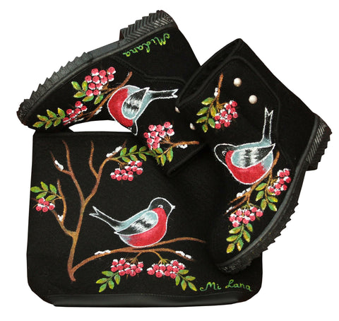 Swallow Boots and purse