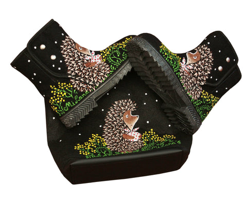 Hedgehog Boots and purse