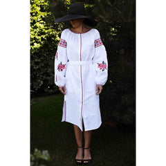 Roses White Embroidered dress
