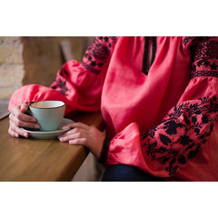 Sokal Coral Embroidered blouse